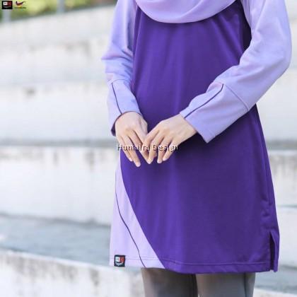 Tshirt Muslimah Humaira Eliya - Cool Purple (HD 290)