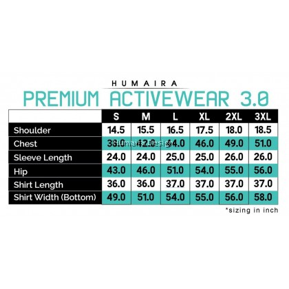 Tshirt Muslimah Humaira Exclusive Activewear 3.0 (Bold Red) - SE61