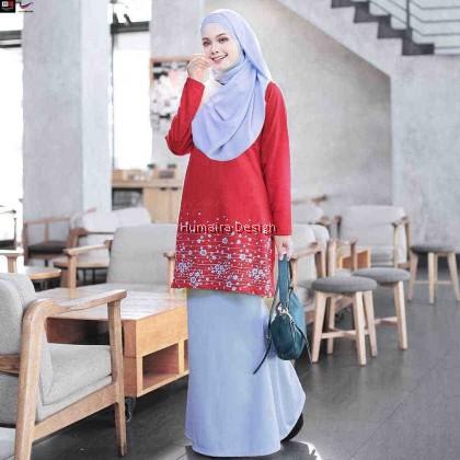 Tshirt Muslimah Humaira Azhara (Bold Red) - HD309
