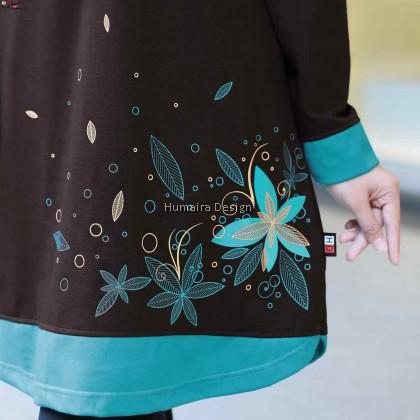 Tshirt Muslimah Humaira Aleena (Deep Choc) - HD320