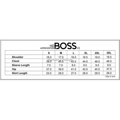 Tshirt Men Humaira - HD Boss (Yellow / Black) - HBP 984