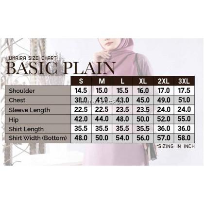 Tshirt Muslimah Humaira Basic Plain- Red (HB02)