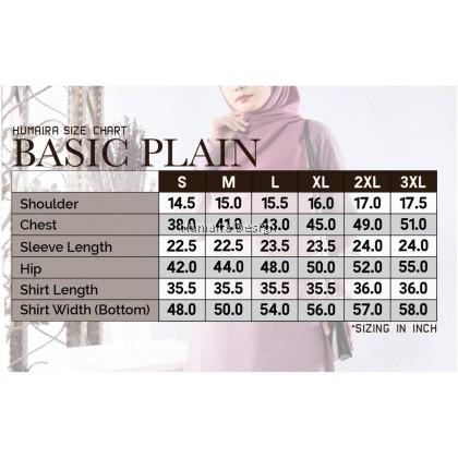Tshirt Muslimah Humaira Basic Plain - Royal Blue (HB20)